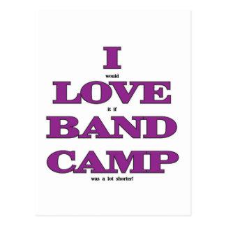 I Love Band Camp Postcard