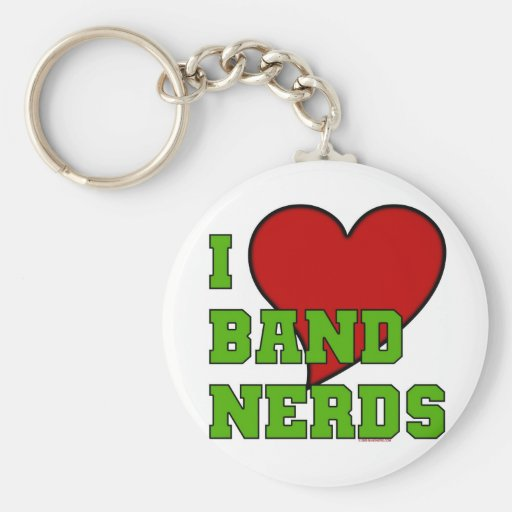 I Love Band Nerds 2 Keychain