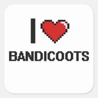 I love Bandicoots Digital Design Square Sticker