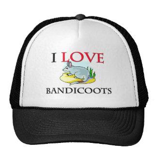 I Love Bandicoots Trucker Hats