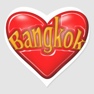I Love Bangkok Heart Sticker