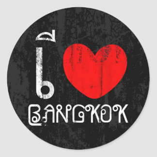 I Love Bangkok or I Heart Bangkok Classic Round Sticker