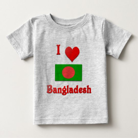 I Love Bangladesh Baby T-Shirt