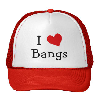I Love Bangs Trucker Hat