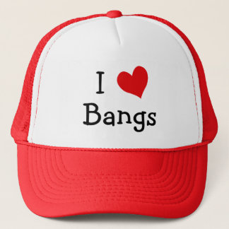I Love Bangs Trucker Hat