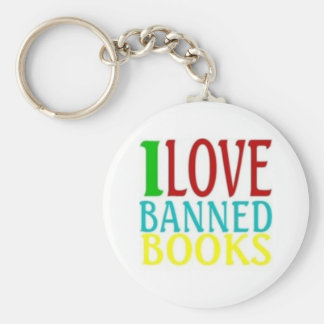 I LOVE BANNED BOOKS OFFICIAL KEYCHAIN