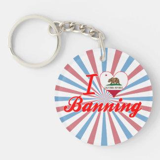 I Love Banning, California Acrylic Keychains