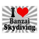 I love Banzai Skydiving Postcard