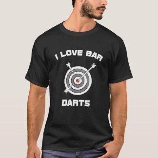 I Love Bar Darts Bar Hopping Indoor Sports T-Shirt
