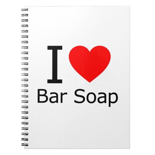 i Love Bar Soap Notebooks