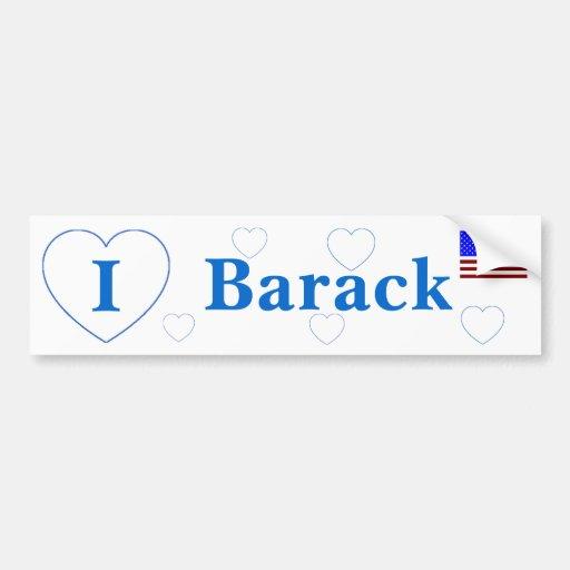 I Love Barack Bumper Stickers