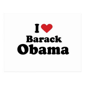 I LOVE BARACK OBAMA (2) -.png Postcard