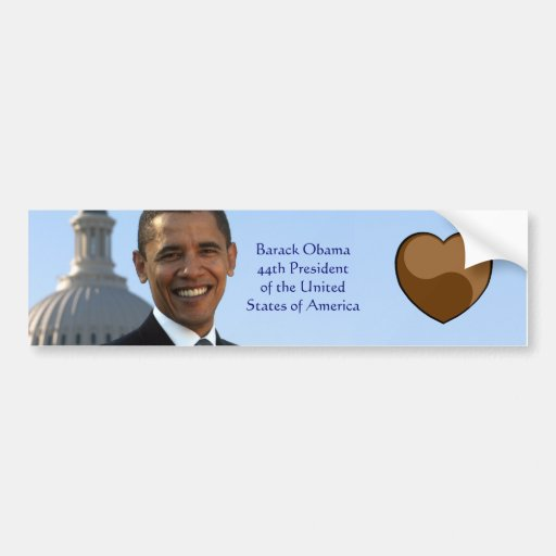 I Love Barack Obama 44th Pres Bumper Sticker