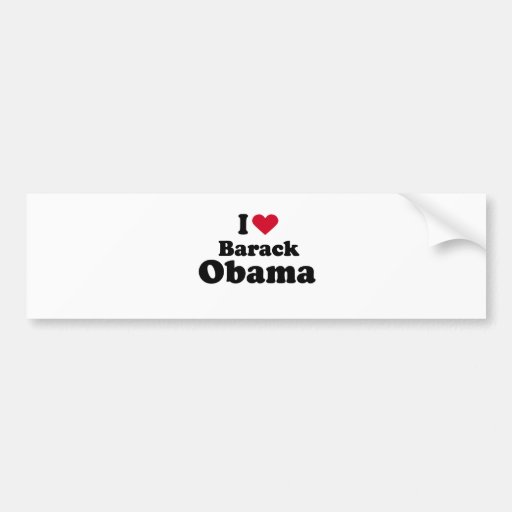 I Love Barack Obama Bumper Sticker