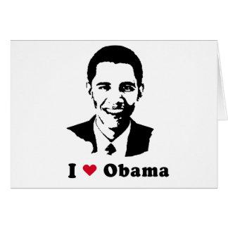 I Love Barack Obama Cards