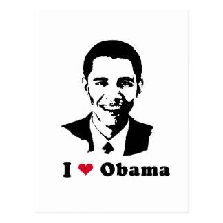 I Love Barack Obama Postcard