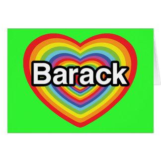 I love Barack Obama rainbow heart Cards