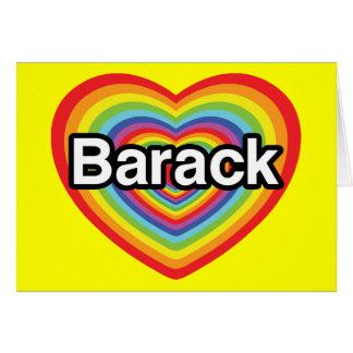 I love Barack Obama: rainbow heart Greeting Card