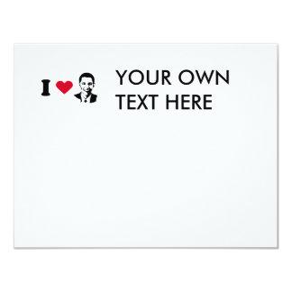 I Love Barack Obama T-shirt 11 Cm X 14 Cm Invitation Card