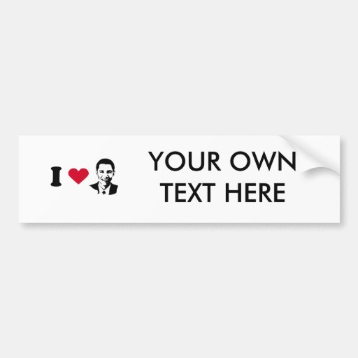 I Love Barack Obama T-shirt Bumper Sticker