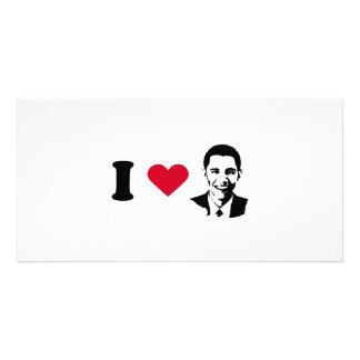 I Love Barack Obama T-shirt Photo Card Template