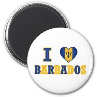 I Love Barbados Heart Flag Design Magnet