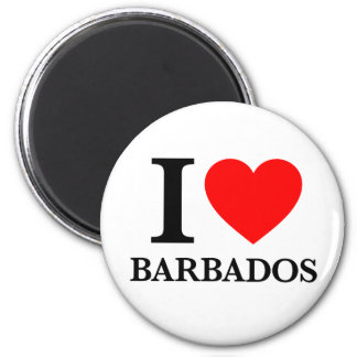 I Love Barbados Magnet