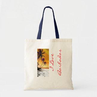I Love Barbados Canvas Bag