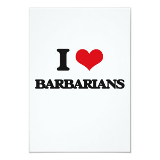 I Love Barbarians Custom Invite