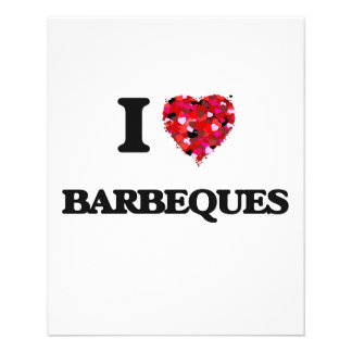 I Love Barbeques 11.5 Cm X 14 Cm Flyer