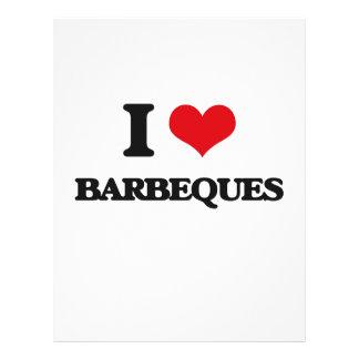 I Love Barbeques Flyer Design