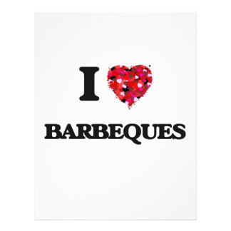 I Love Barbeques 21.5 Cm X 28 Cm Flyer