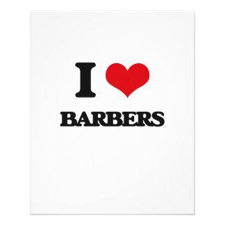 I Love Barbers Flyer Design