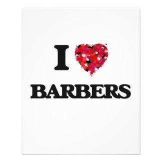 I Love Barbers 11.5 Cm X 14 Cm Flyer