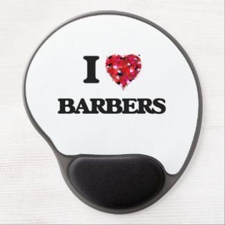 I Love Barbers Gel Mouse Pad