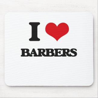 I Love Barbers Mousepad