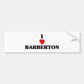 I love Barberton Car Bumper Sticker