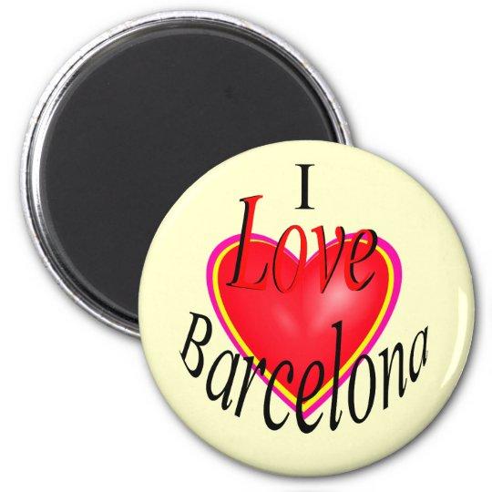 I Love Barcelona! 6 Cm Round Magnet