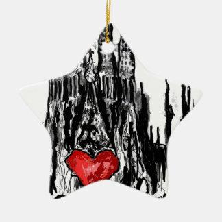 I love Barcelona Christmas Ornament