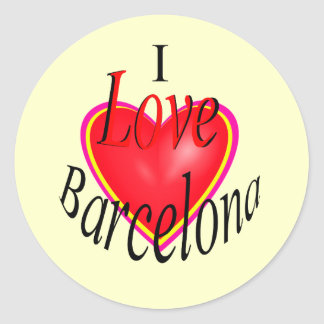 I Love Barcelona! Classic Round Sticker