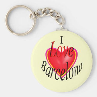 I Love Barcelona! Key Ring