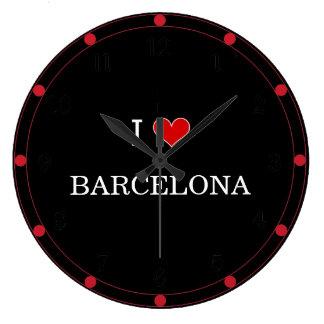 I Love Barcelona Large Clock