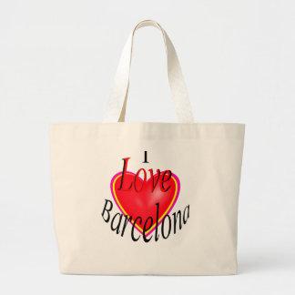 I Love Barcelona! Large Tote Bag