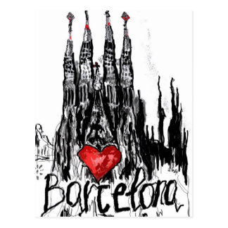 I love Barcelona Postcard