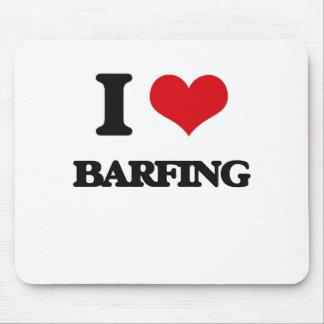 I Love Barfing Mousepads