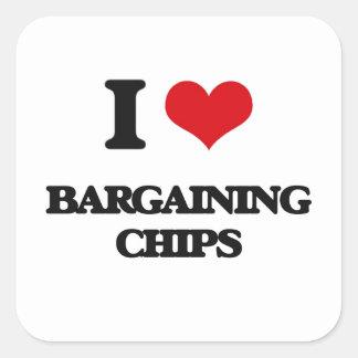 I Love Bargaining Chips Square Sticker