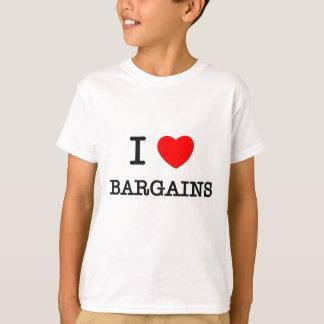 I Love Bargains Tee Shirts