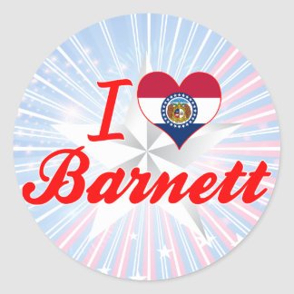 I Love Barnett Missouri Round Sticker