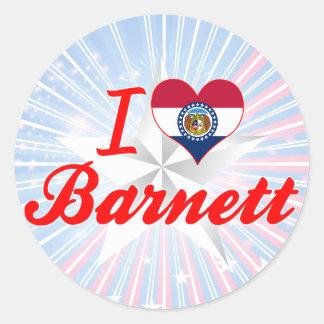 I Love Barnett, Missouri Sticker