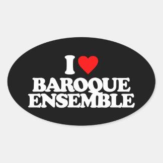 I LOVE BAROQUE ENSEMBLE OVAL STICKER